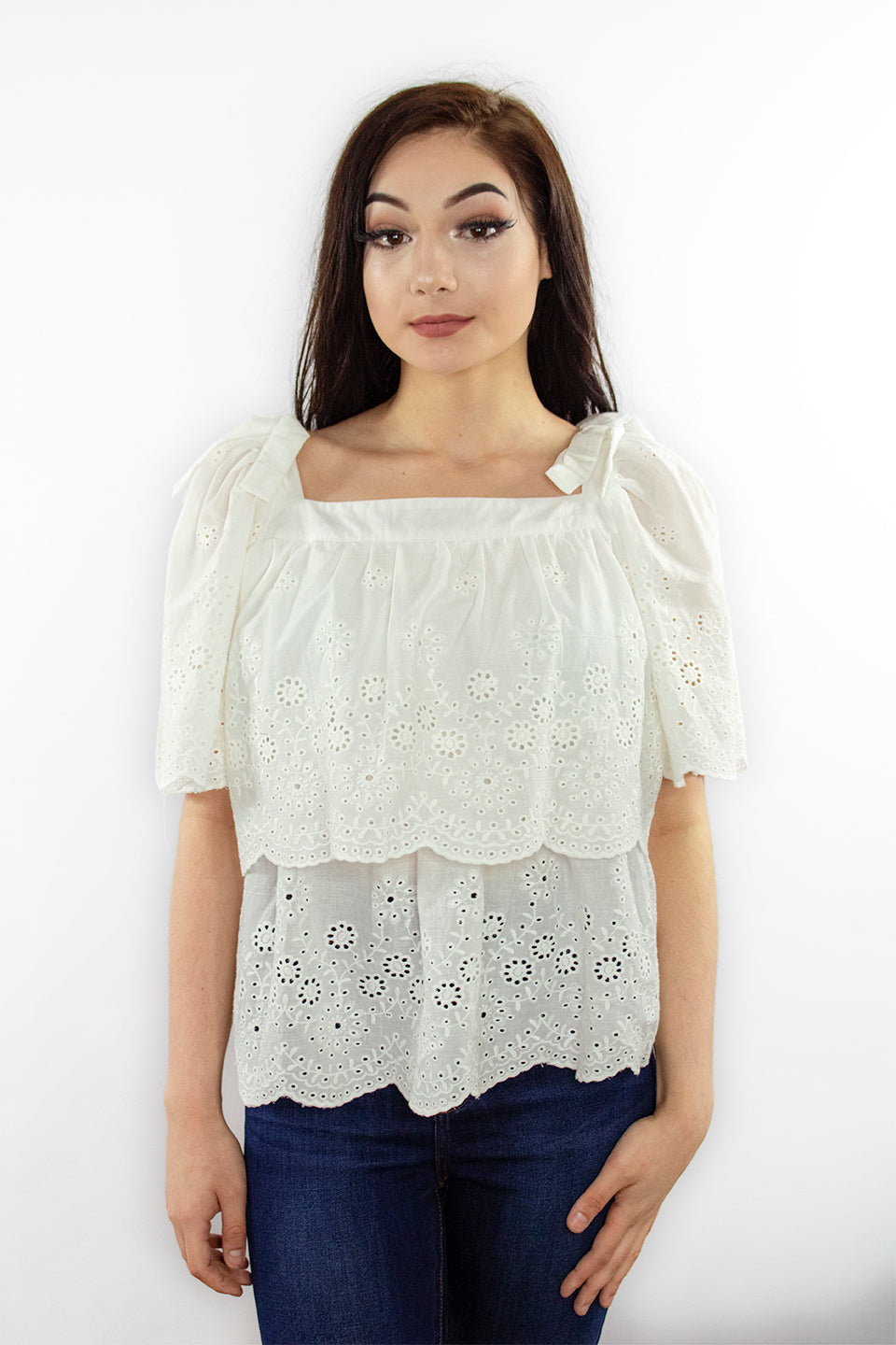 Pretty in Eyelet Top