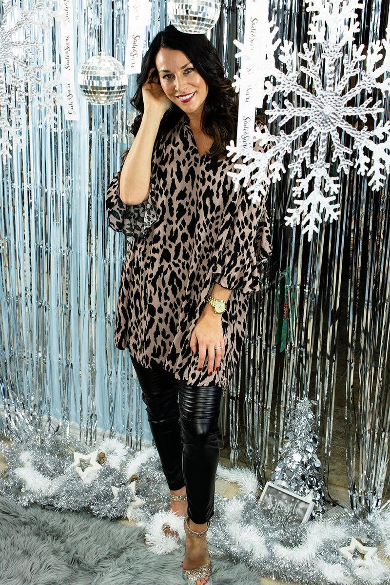 Spotted In The City Animal Print Dress/Tunic