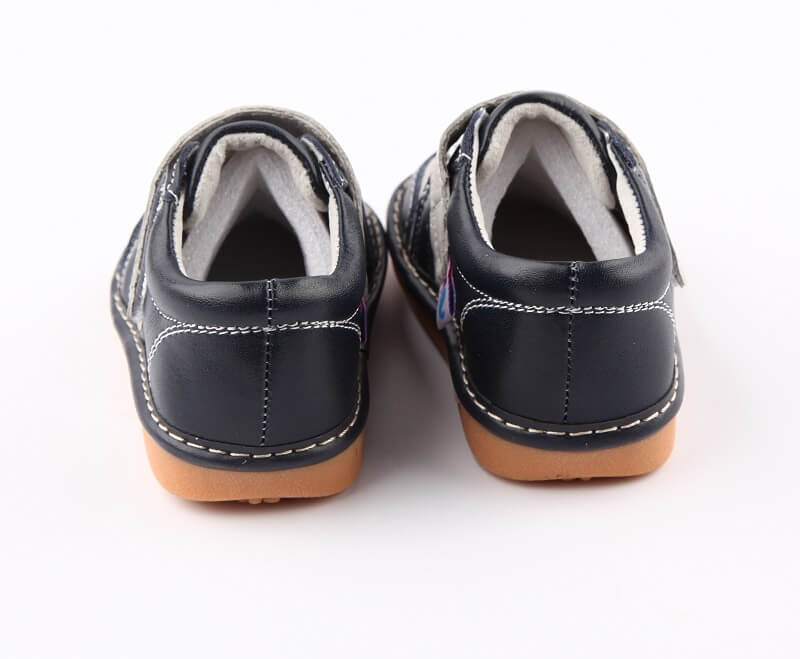 Toddler Boy Sneakers Aidan Navy Blue back view