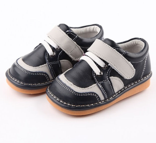 Aidan Navy Toddler Boy Shoes