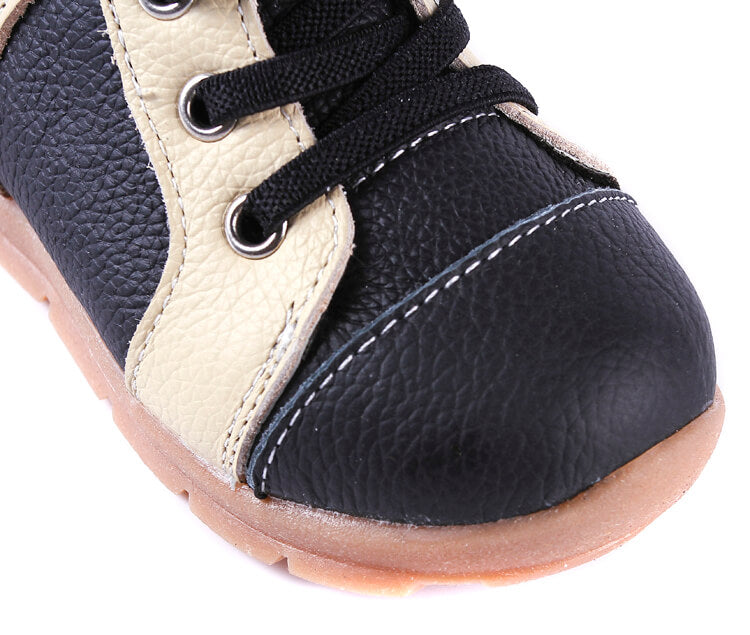 Leather Toddler Boots Reinforced Toe