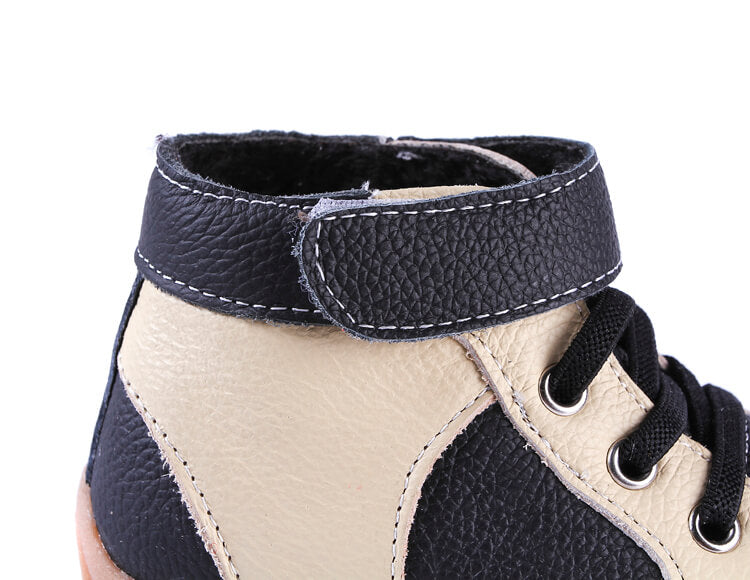 Leather Toddler Boots Velcro Closure