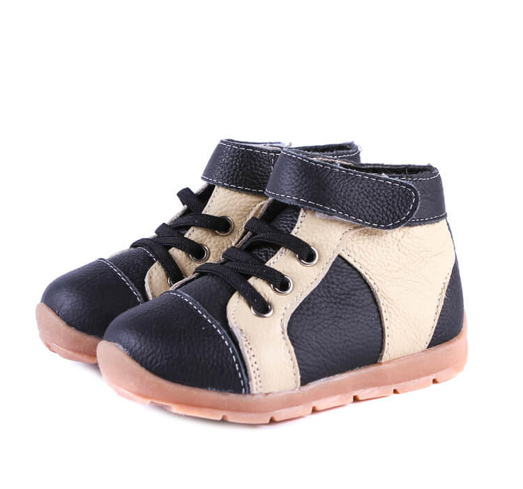 Anklebiter Black Cream Toddler Boots