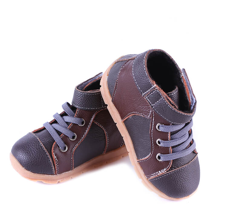 Toddler Boy Boots Anklebiter Brown Black side view