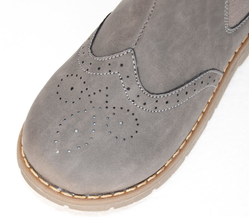 Ash toddler girl boots grey with detail on toe top view