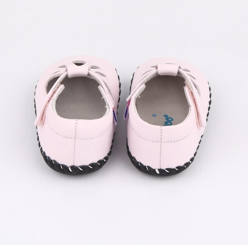 Blush baby girl sandals back view