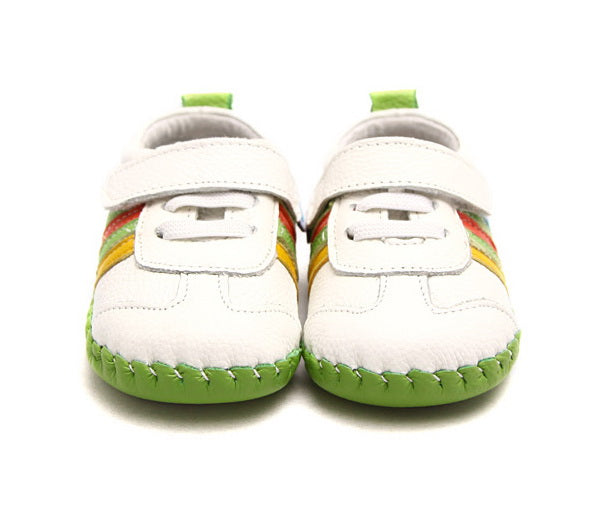 Rainbow baby boy shoes baby girls shoes front view