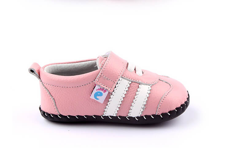 Bianca pink leather baby girl shoes