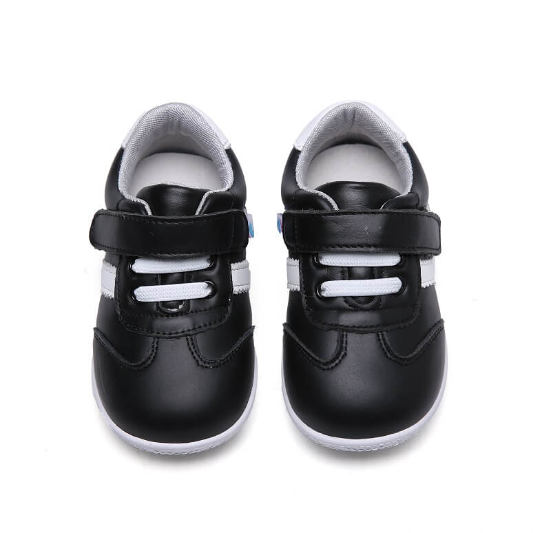 leather toddler boys sneakers black leather dash