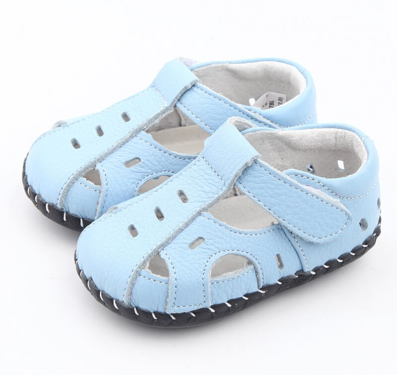 Baby boy sandals leather baby sandals side view