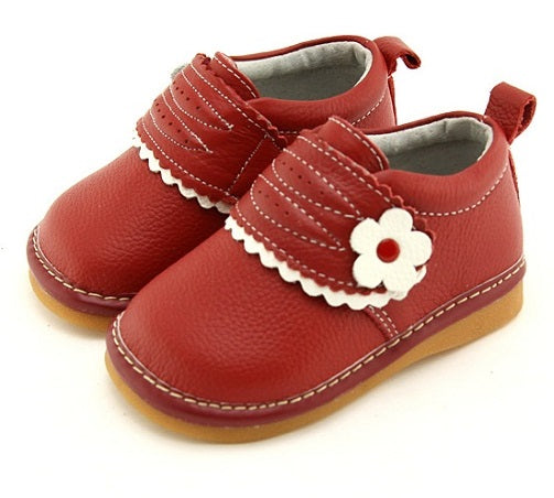 Charlotte red toddler girl shoes