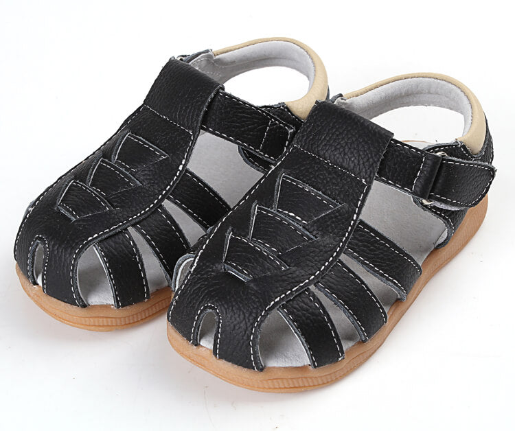 Cobra leather toddler boys and toddler girls sandals black