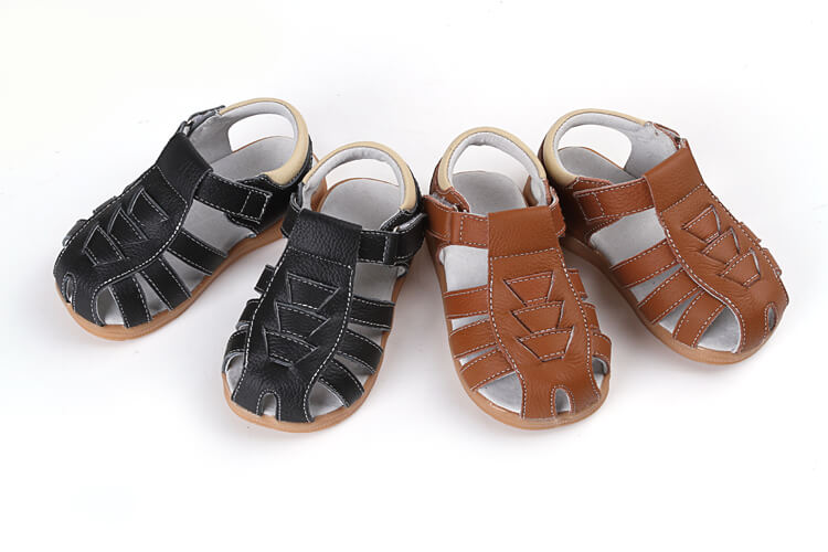 Cobra leather toddler sandals available in 2 colours black and brown