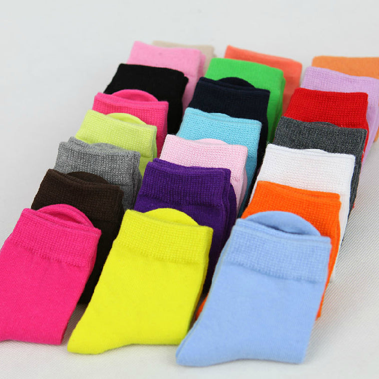 Cotton kids socks 3 sizes variety of colours