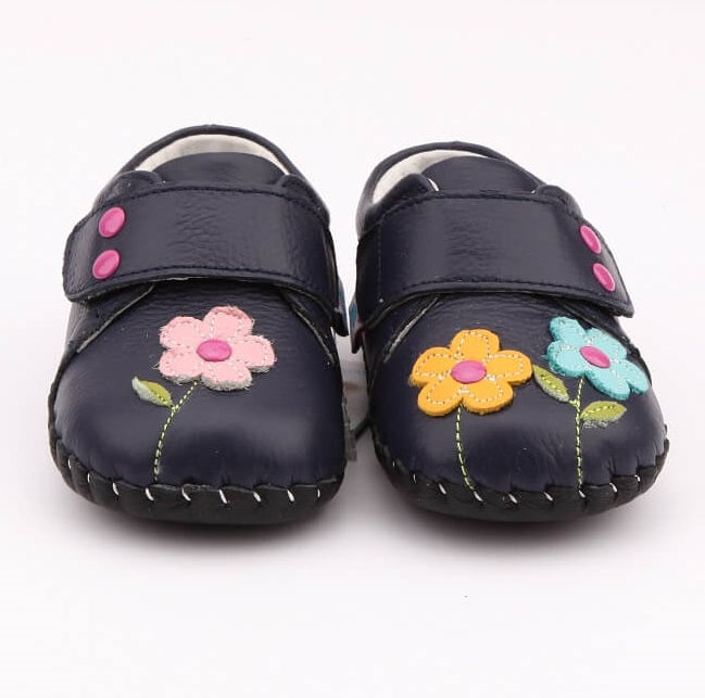 Dahlia navy baby girl shoes