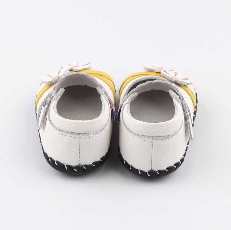 Leather first walker baby shoes baby girls shoes back view
