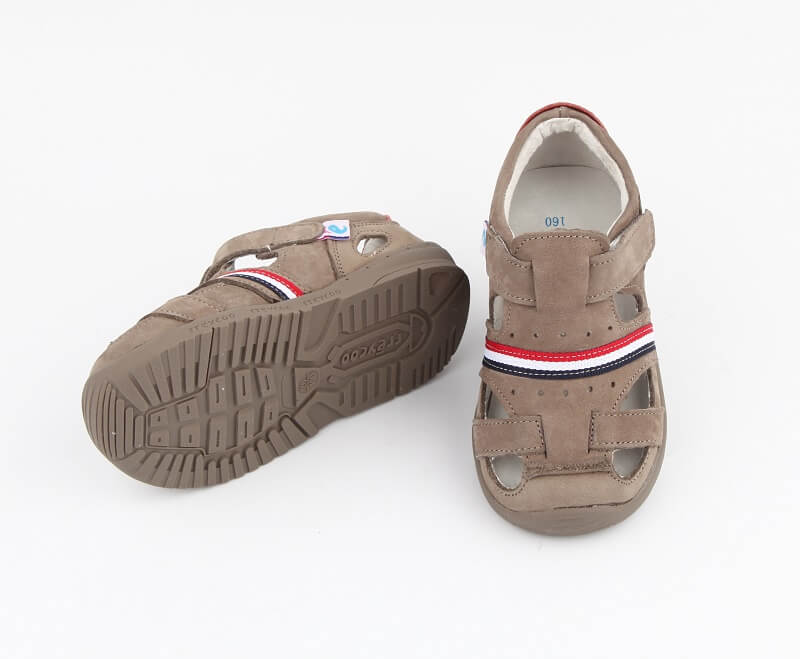 Desert toddler boys leather sandals grey suede leather