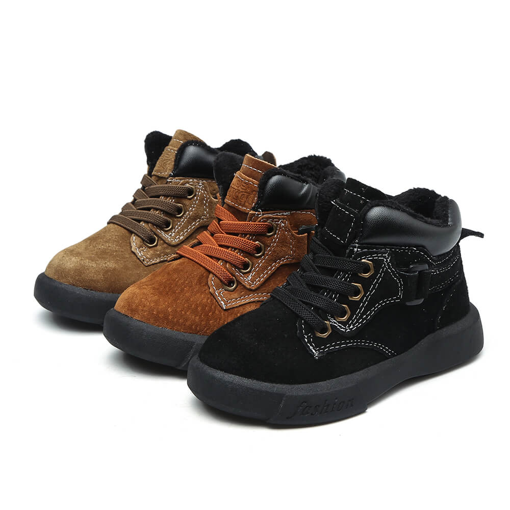 Dozer toddler boots available in black, brown and khaki