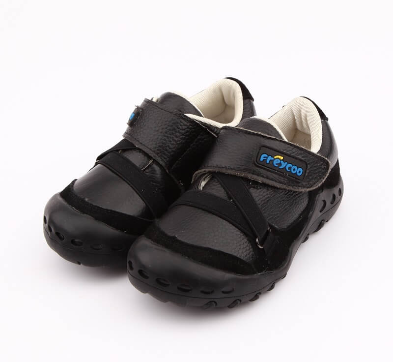 Dylan black boys sneakers leather school shoes