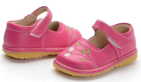 Florence hot pink leather toddler girl shoes girls mary jane