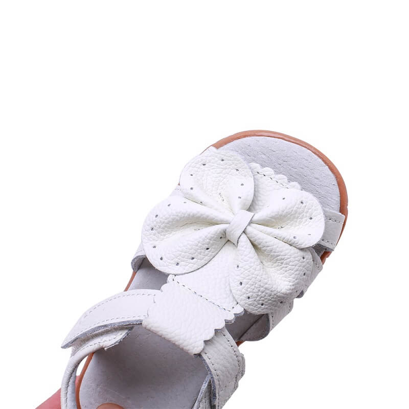 Flutter toddler girls sandals with butterfly bow