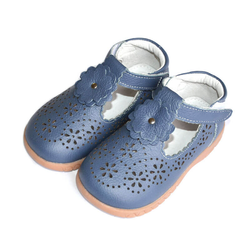 Forget Me Not navy toddler girls shoes