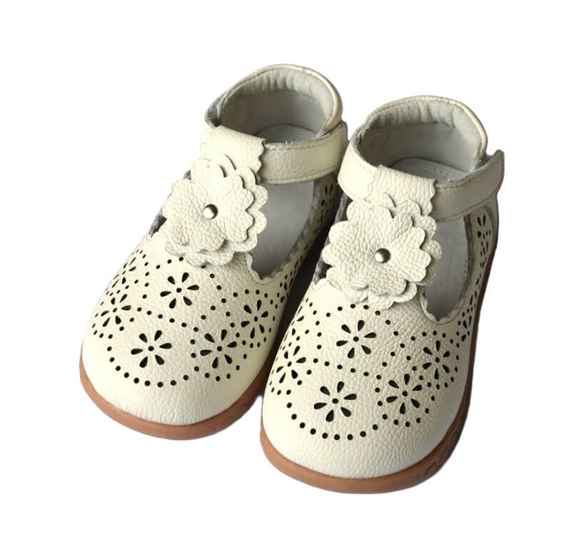 Forget Me Not white toddler girls shoes