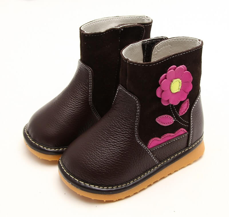 Gerberra brown leather toddler boots