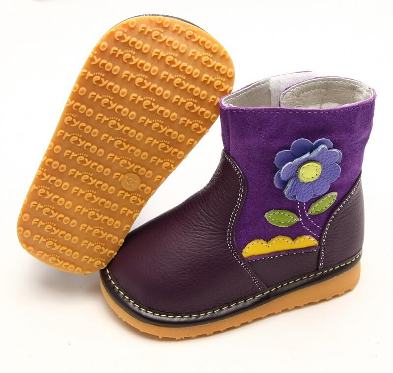 Gerberra purple toddler girl boots side and bottom view