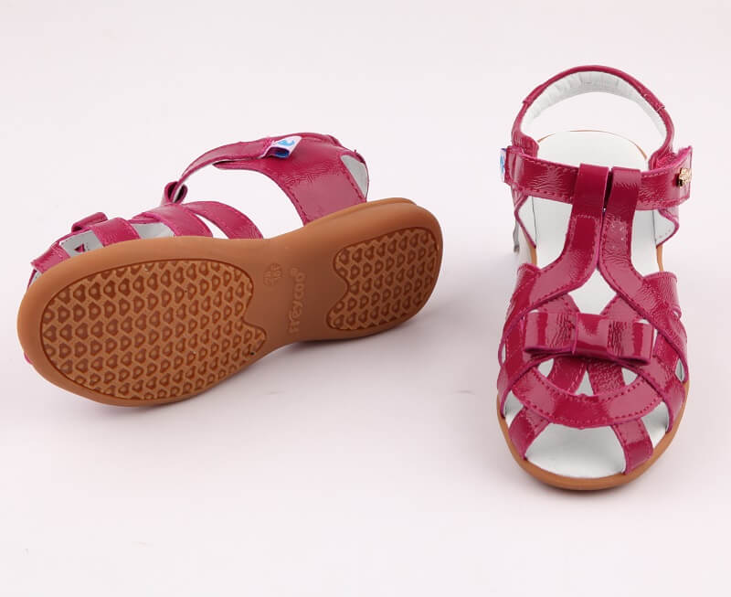 Soiree sandals for girls hot pink leather sandals