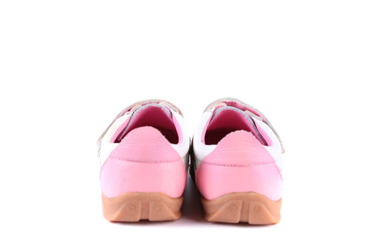 Grasshopper leather toddler shoes pink back view