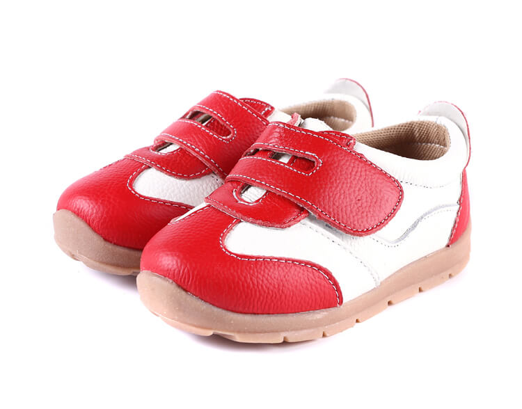 Grasshopper red toddler girl sneakers