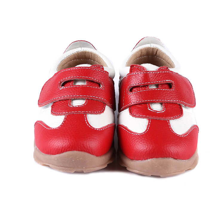 Grasshopper red toddler shoes front view