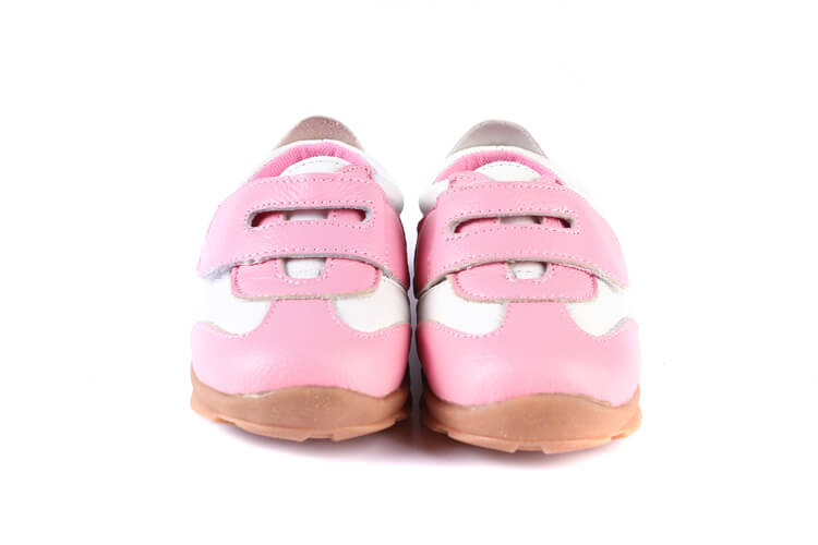 Grasshopper pink toddler girls sneakers front view