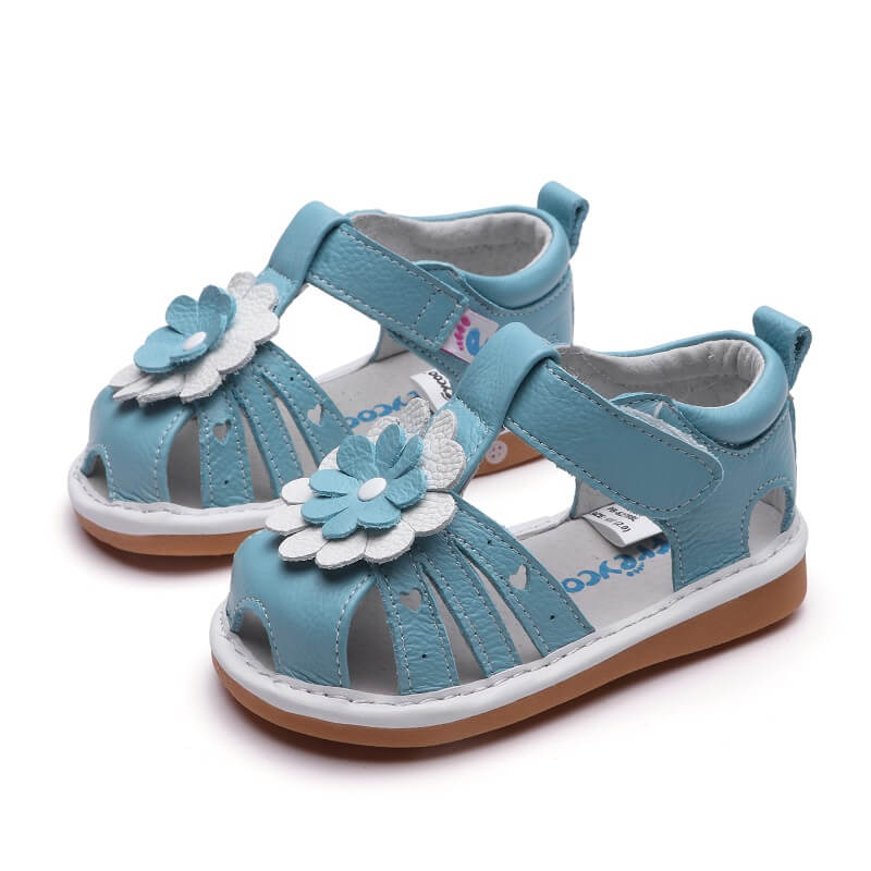 Gypsy blue leather toddler girl sandals