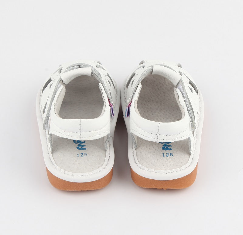 Toddler shoes Freya white sandals back view
