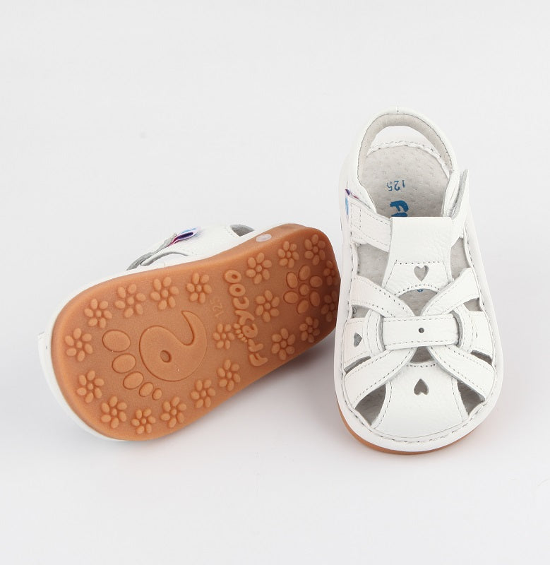 Pretty Freya leather toddler sandals with flexible leather sole