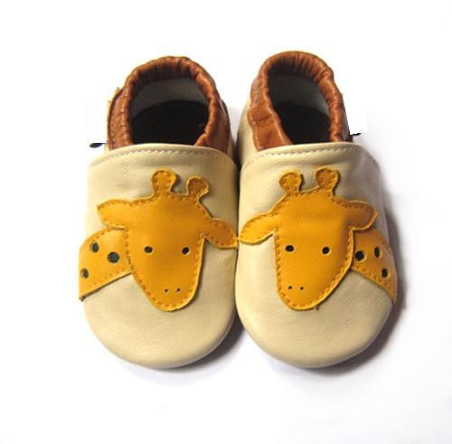 Giraffe soft sole baby shoes genuine leather with giraffe detail