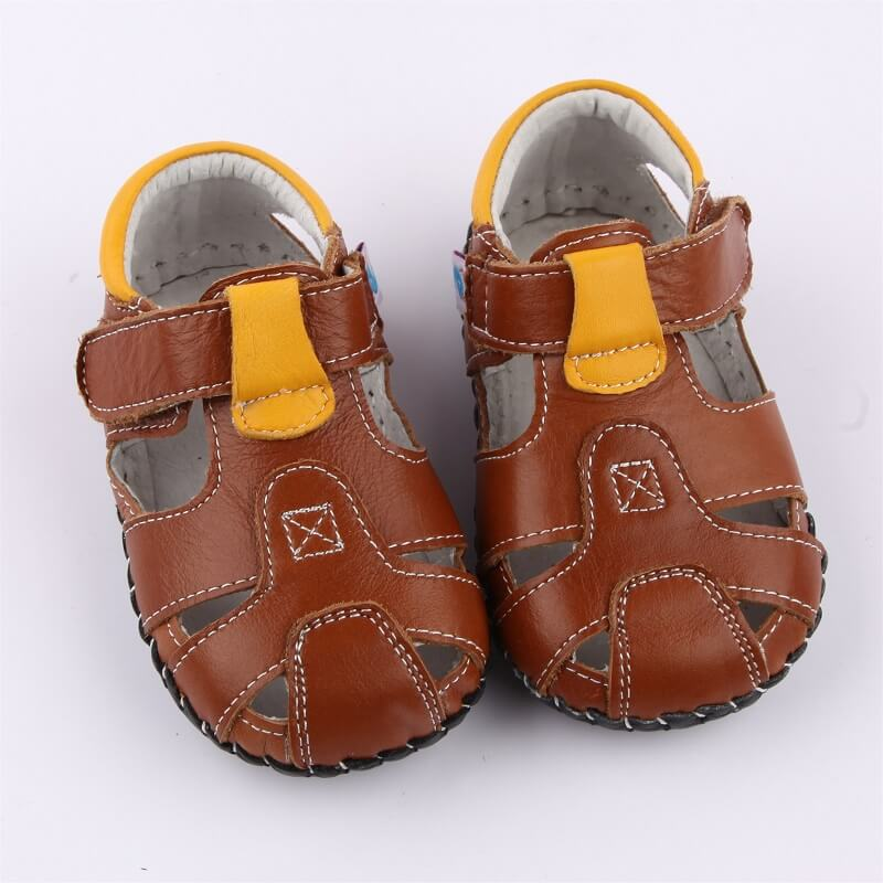 Leather baby boy t-bar sandals