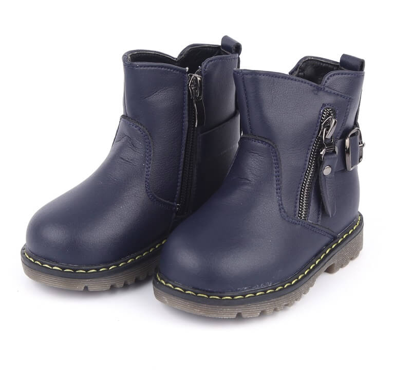 Madison navy toddler girl boots