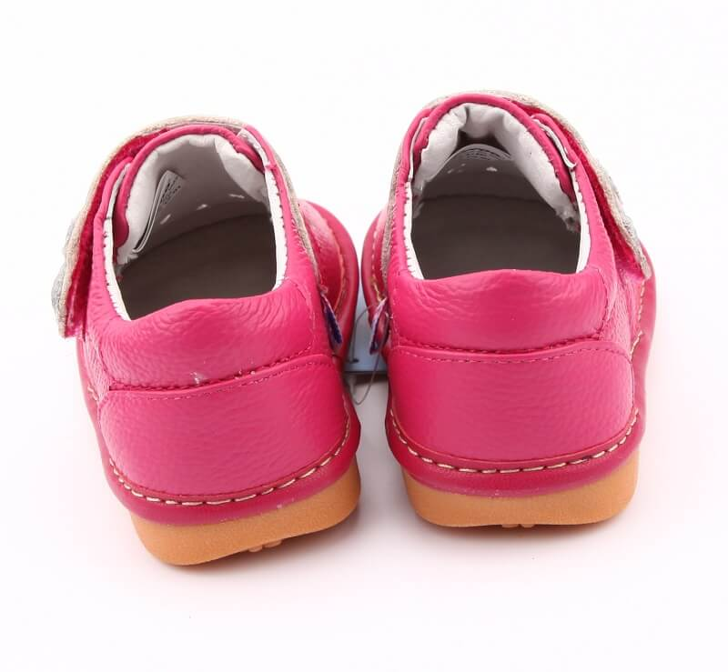 Toddler girl sneakers Maisy hot pink back view