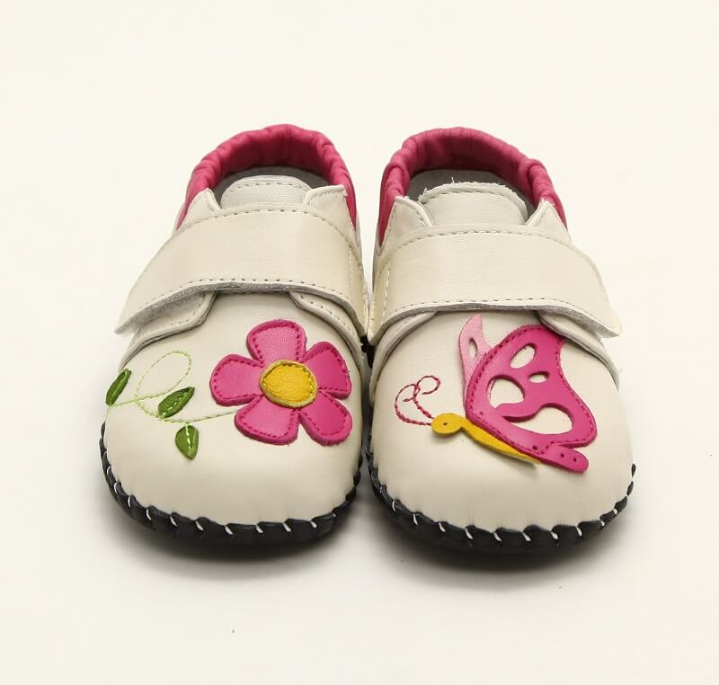 Nectar cream leather baby sneakers front view