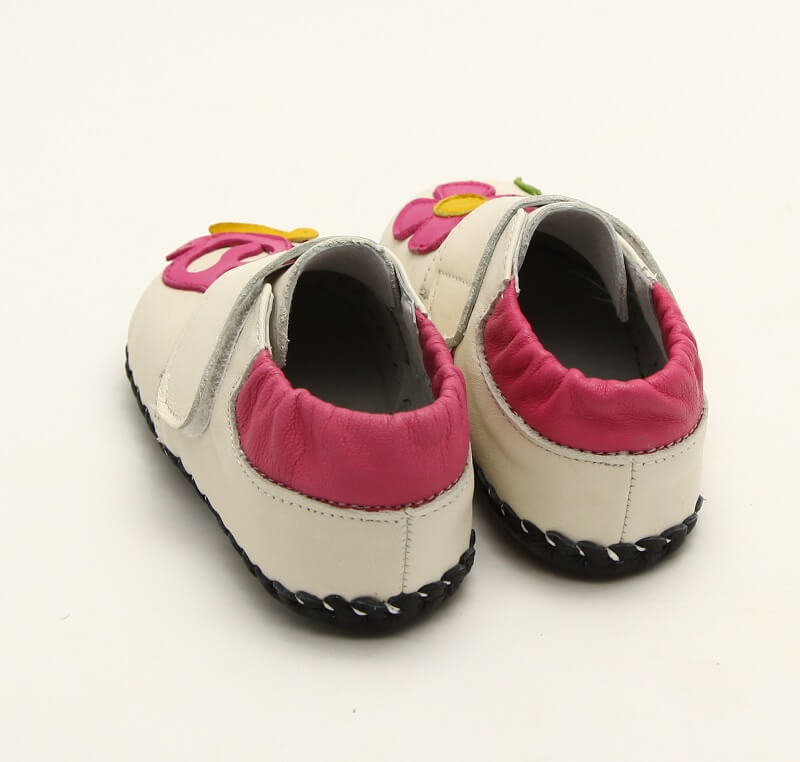 Nectar cream first walker baby shoes back view