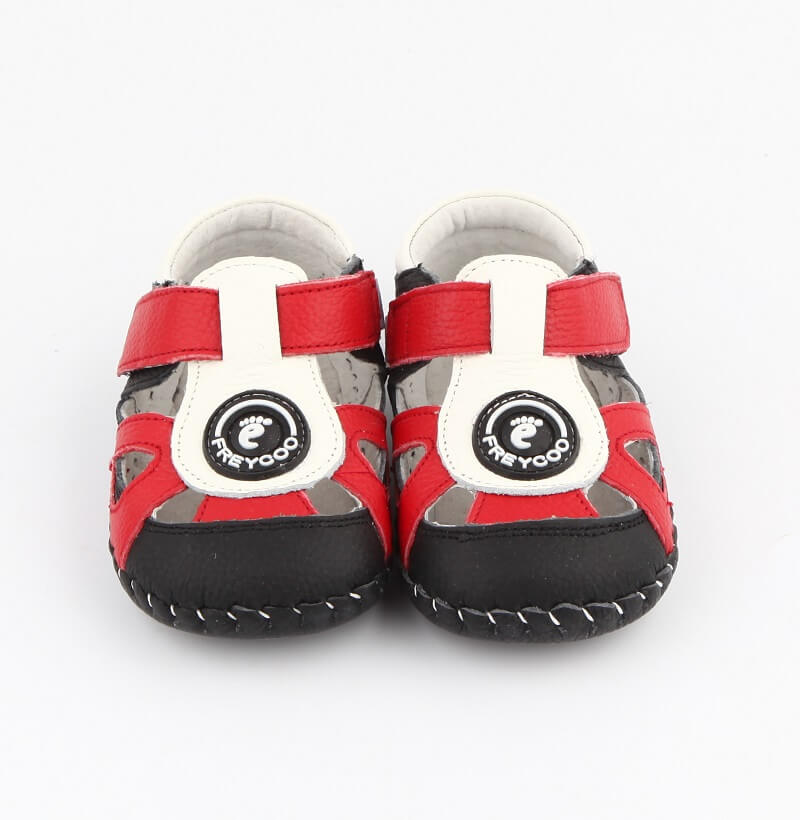 Ollie leather toddler boys sandals front view