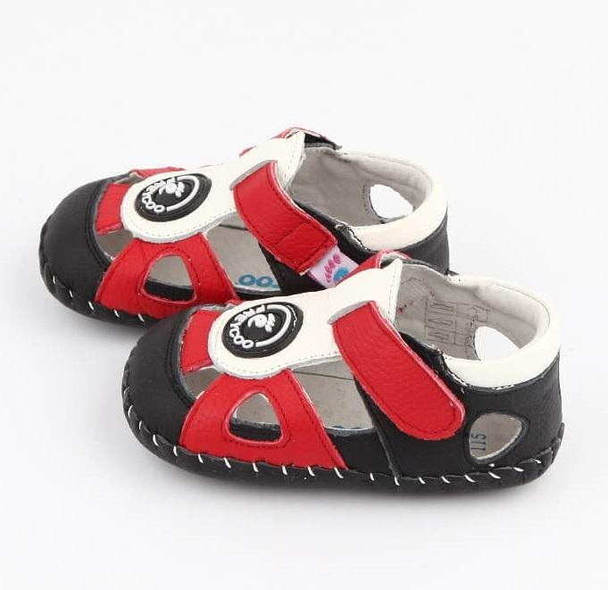 Ollie first walker baby shoes boys leather sandals