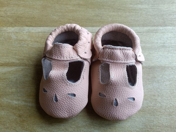 Pearl leather baby shoes soft sole baby shoes pink baby girls sandals