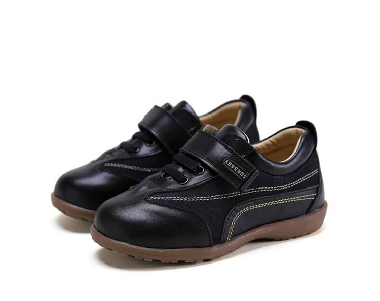 Playground black leather school shoes nz