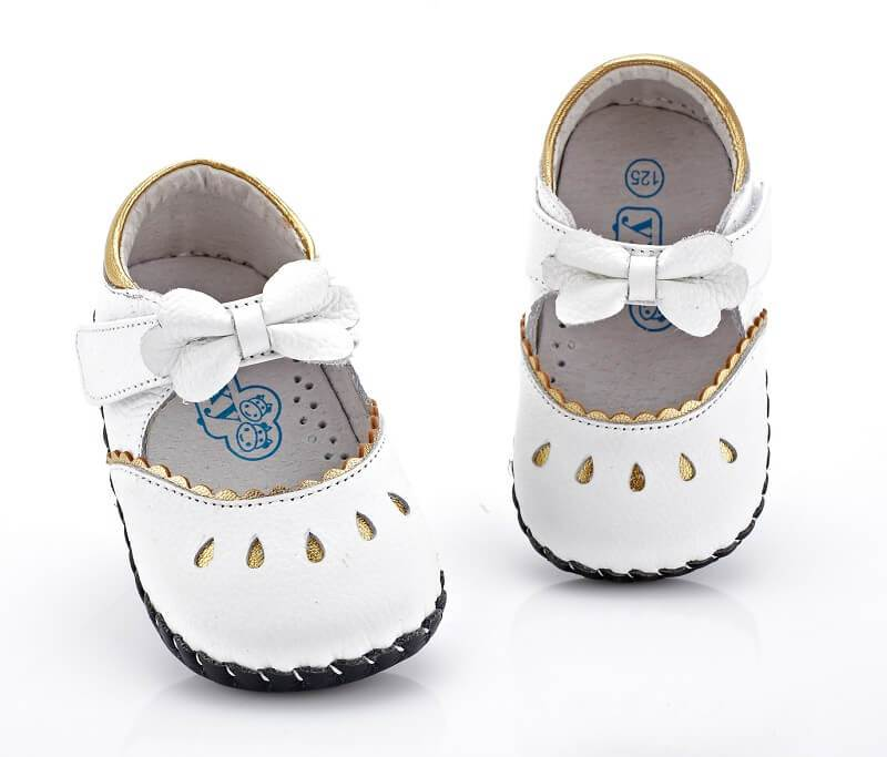 Princess white leather mary jane baby shoes flower girl shoes weddings christenings top view