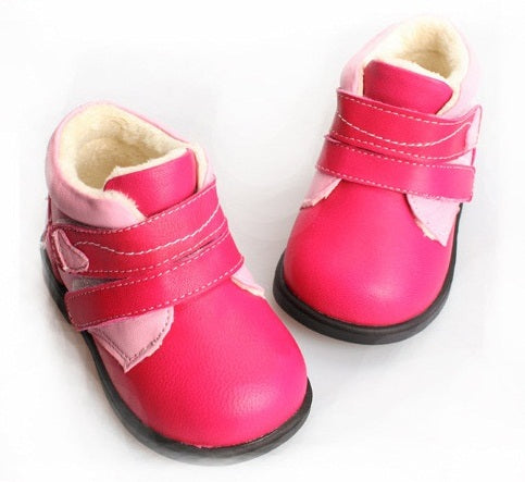 Queen of Hearts pink toddler girl boots