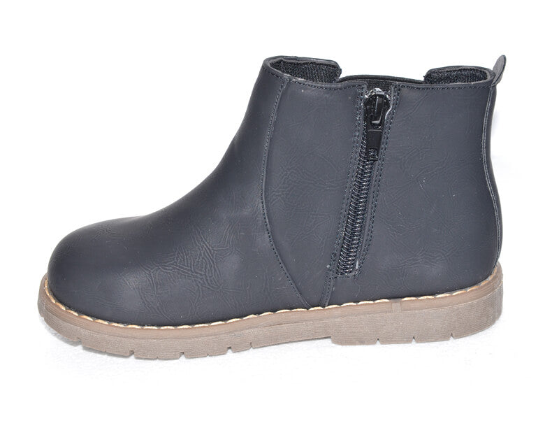 Raven unisex toddler boots side view zip closure